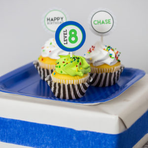 Video Game Birthday Party Cupcake Toppers
