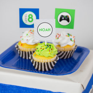 Video Game Party Cupcake Toppers