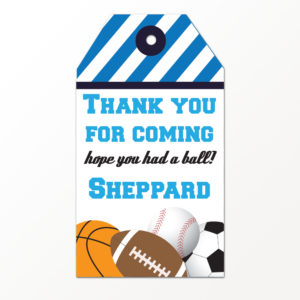 Sports Favor Tags
