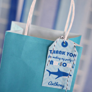 Shark Party Favor Tag