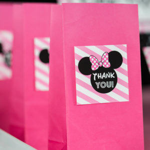 Minnie Mouse Thank You Square