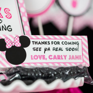Minnie Mouse Treat Bag Toppers