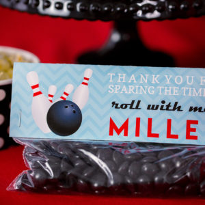 Bowling Party Printable Treat Bag Topper