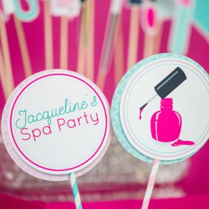Printable Spa Party Centerpiece