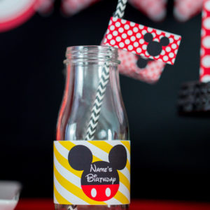 Mickey Mouse Party Drink Labels