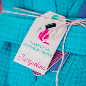 Spa Party Favor Tags