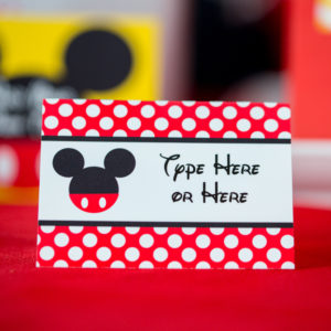 Candy Table Labels for Mickey Mouse Party