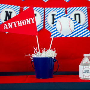 Baseball-Party-Centerpiece-Flags