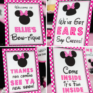 Hot-Pink-Minnie-Mouse-Signs