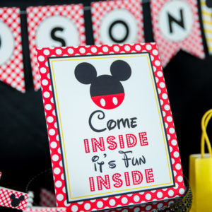 Mickey Mouse Come Inside its Fun Inside Sign