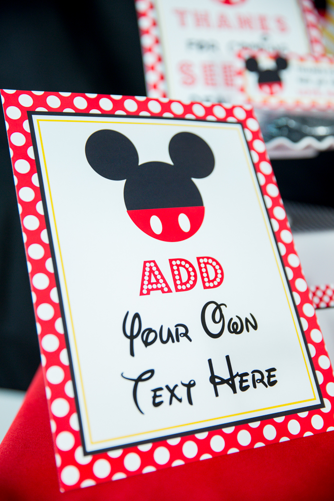 Mickey Mouse Birthday Party Signs
