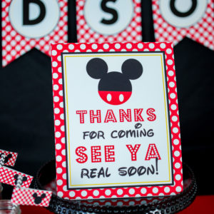 Mickey Mouse Thanks for coming Sign