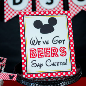 Mickey Mouse Weve Got Beer Sign