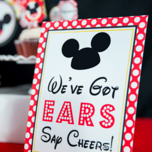 Mickey Mouse Weve Got Ears Sign