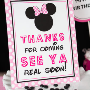 Pink-Minnie-Thanks-for-coming-see-ya-Sign