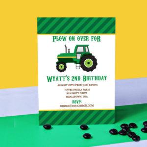 Tractor Party Invitaiton