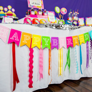 Art Party Birthday Banner