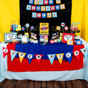 Printable Superhero Party