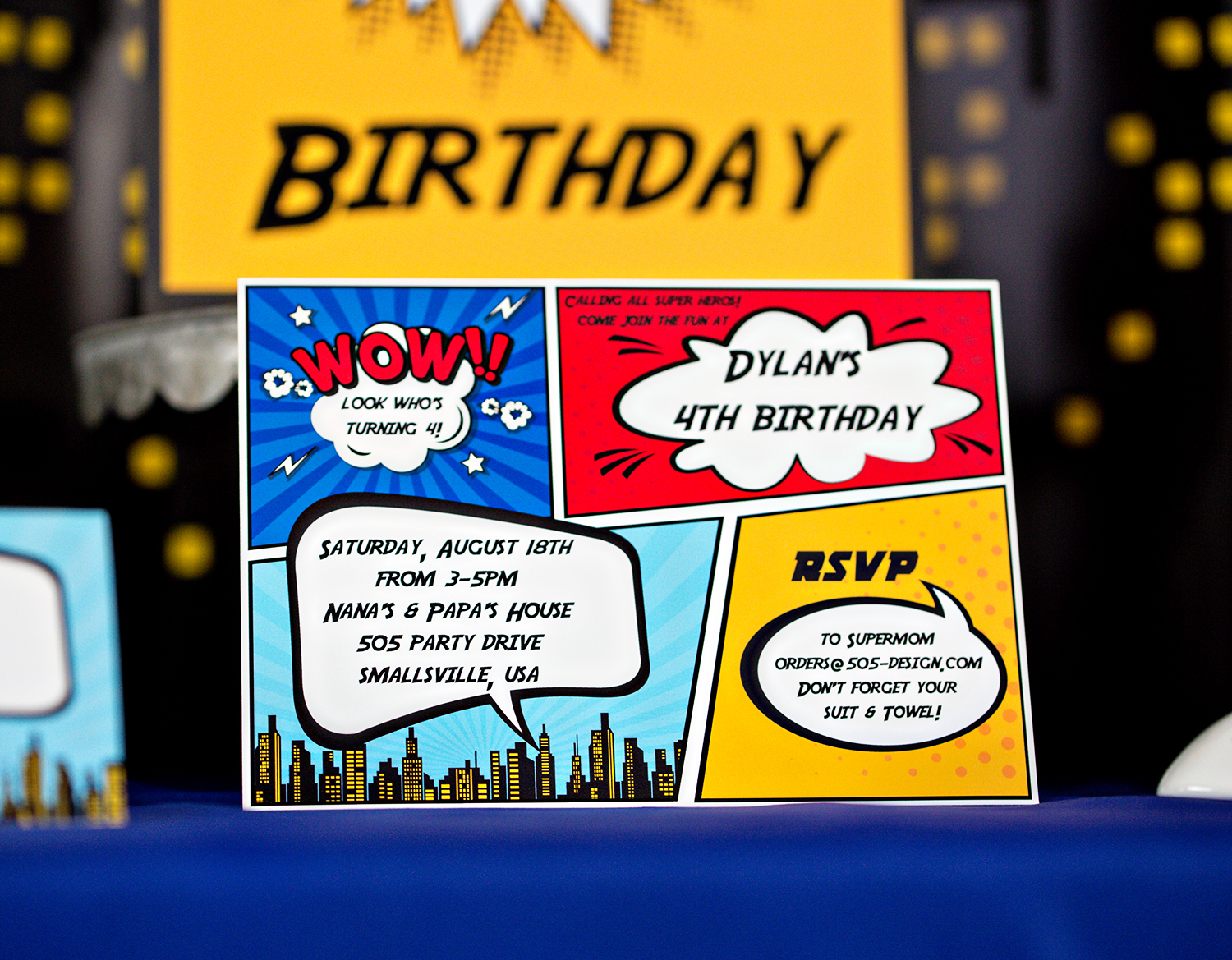 Printable Superhero Birthday Party Decorations