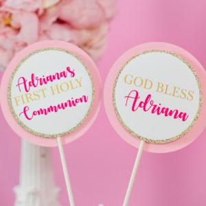 First Communion Centerpieces