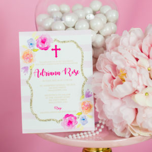 First Communion Invitation Sq