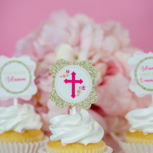 First Communion Cupcake Toppers