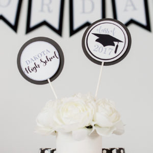 Black SIlver Graduation Table Decorations