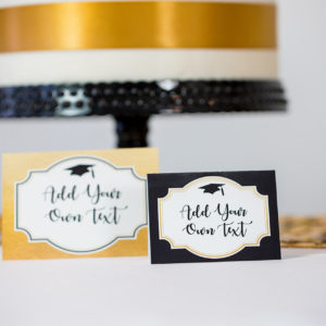 Gold Black Graduation Food Labels2