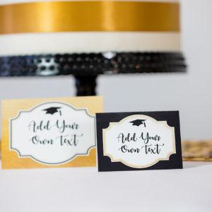 Gold Black Graduation Food Labels2