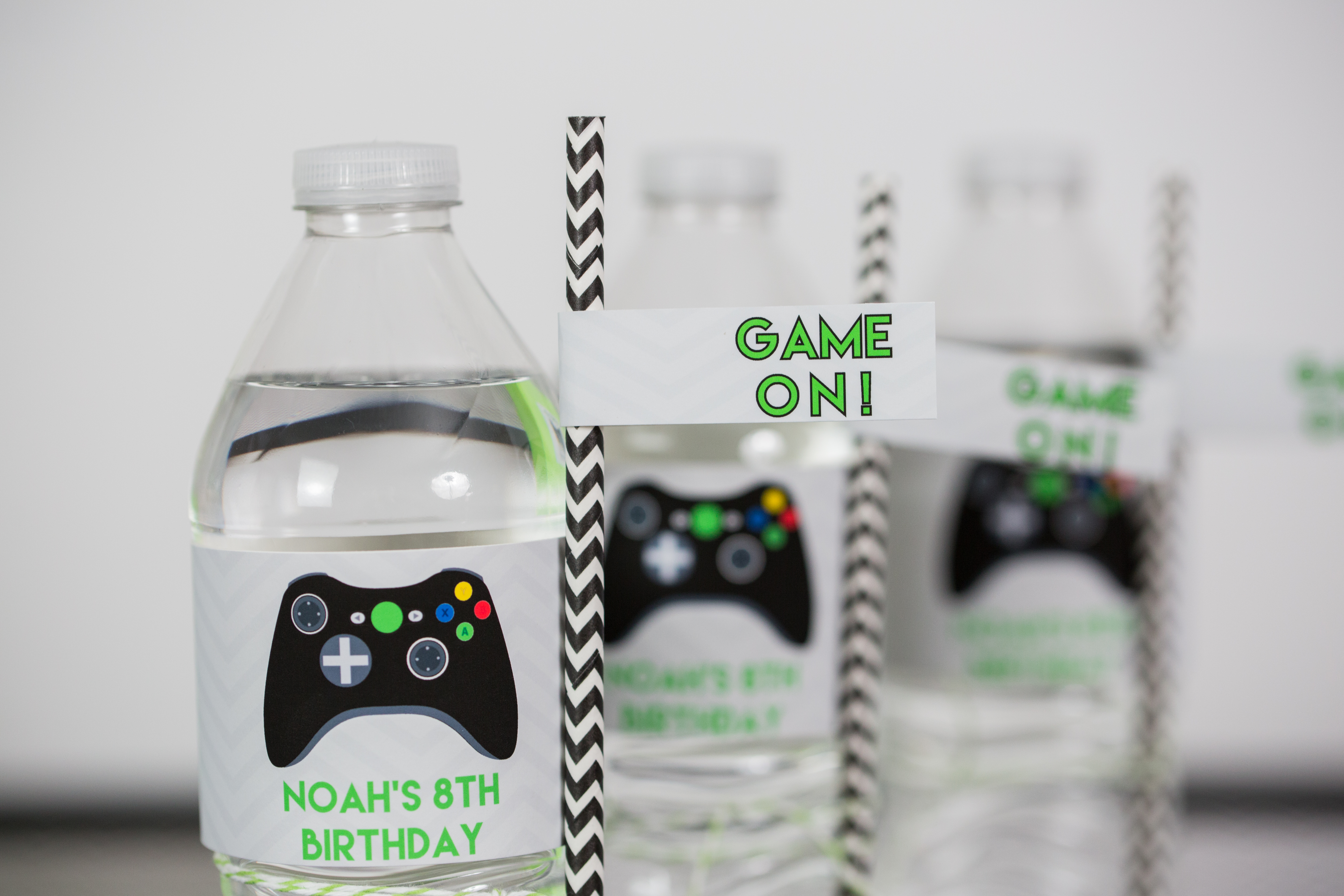 Video Game Party Printable Drink Labels