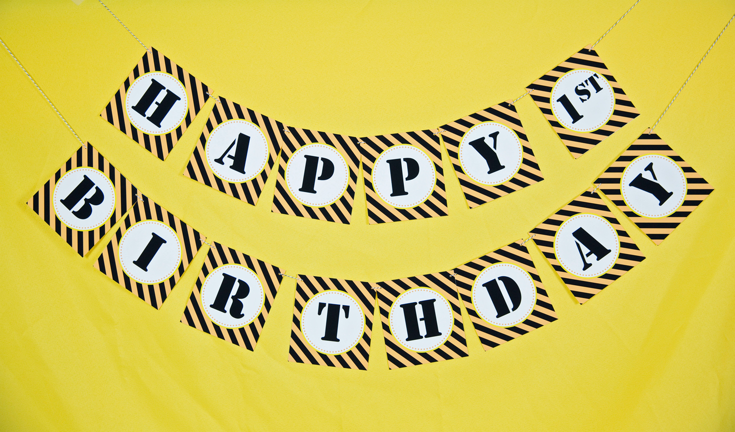 Construction Party Birthday Banner