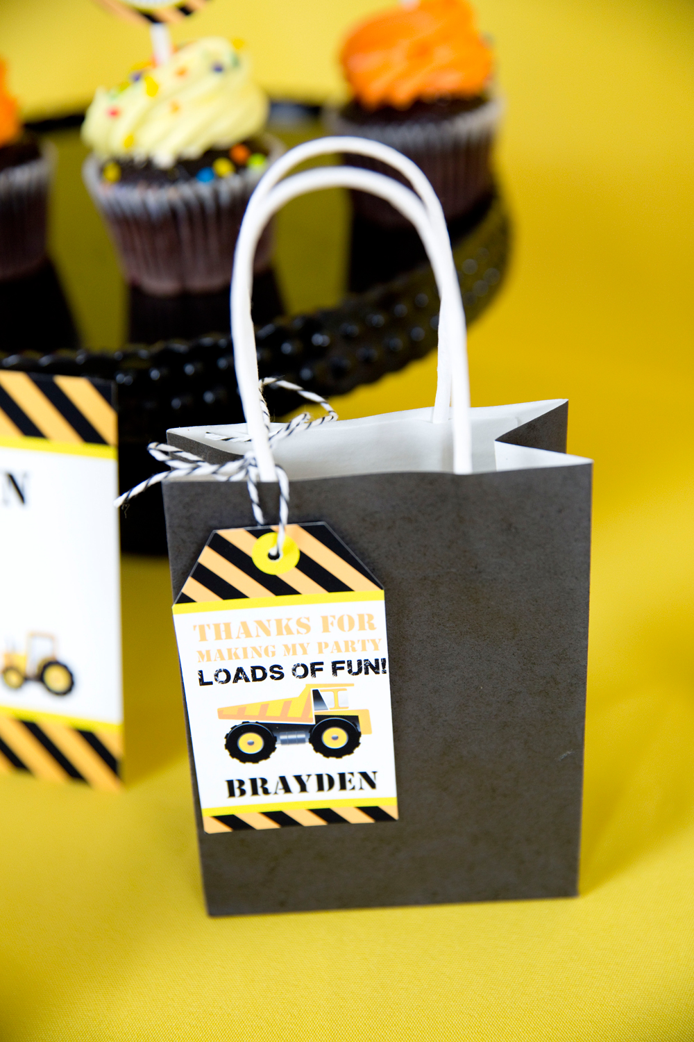 Construction Party Favor Tags Printable Studio