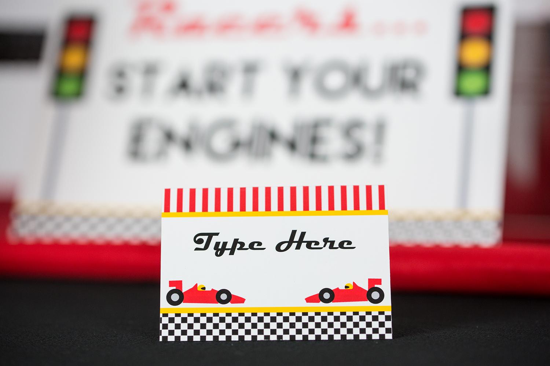 Race Car Birthday Party Printable And Invitation Set