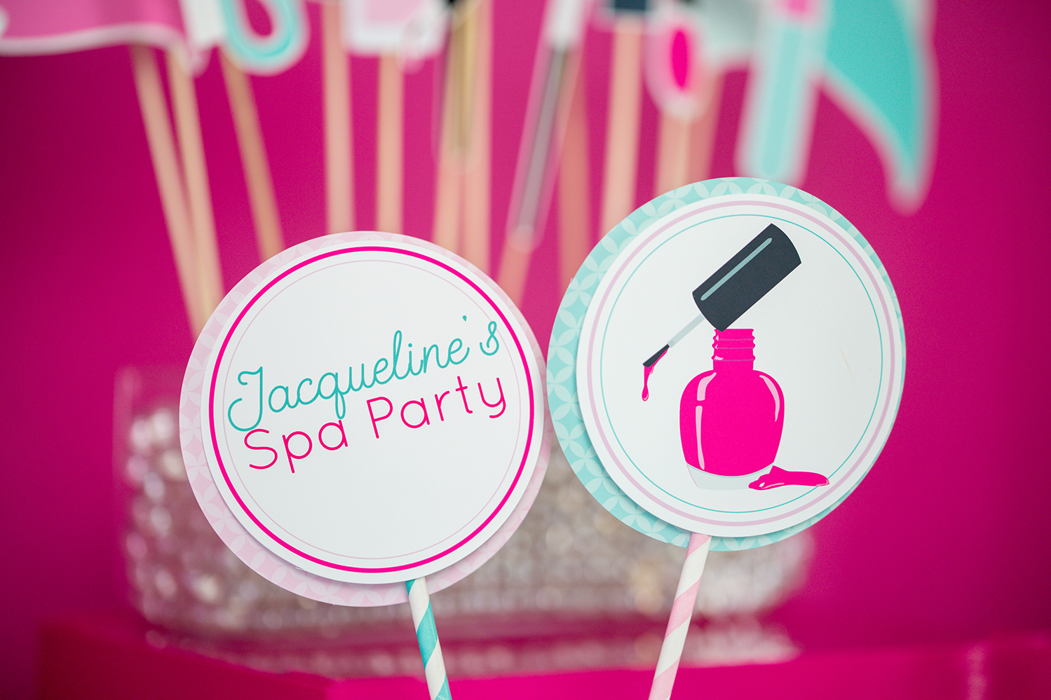 Spa Party Centerpiece Circles