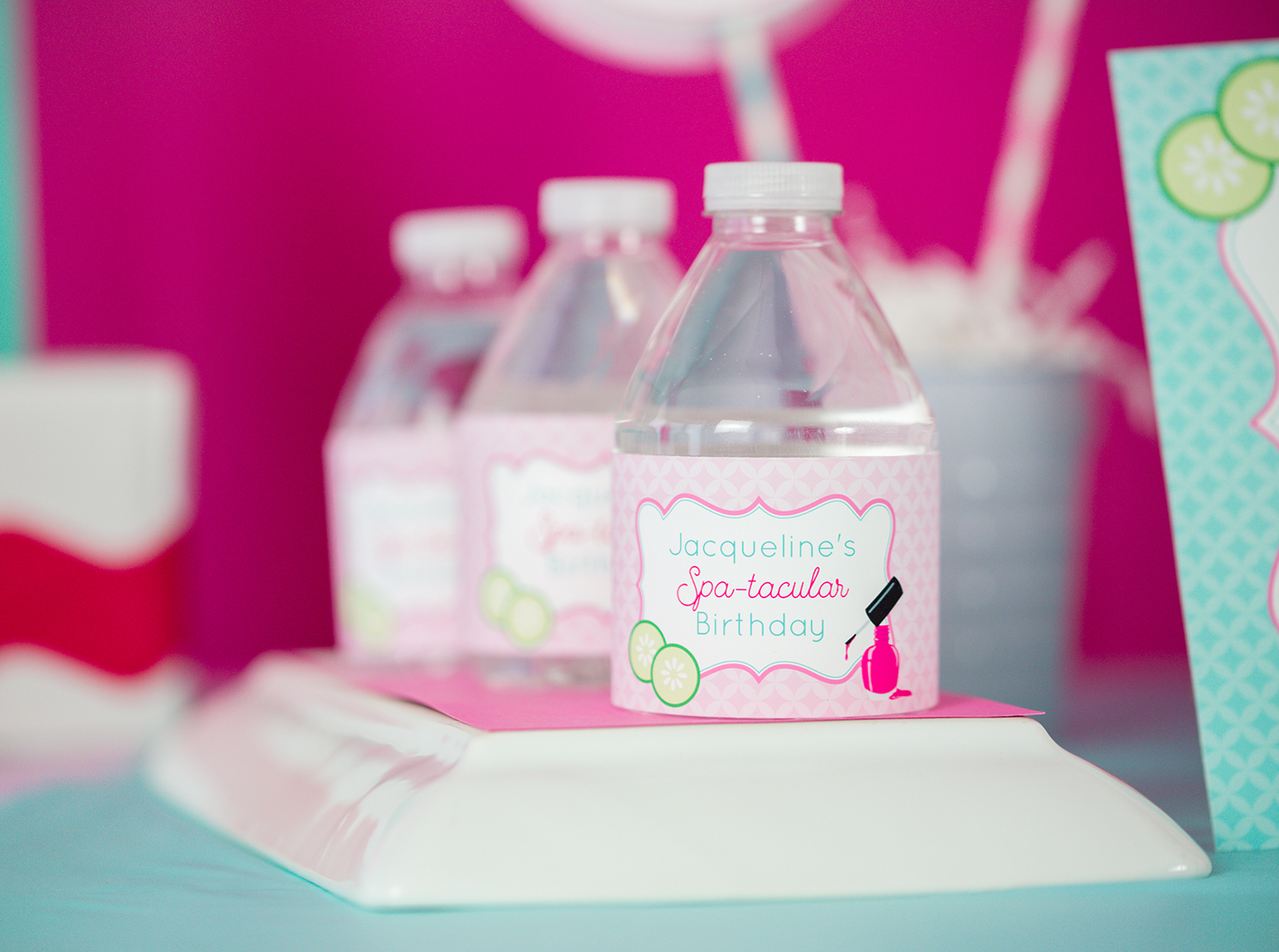 Spa Party Water Bottle Labels Printable Studio