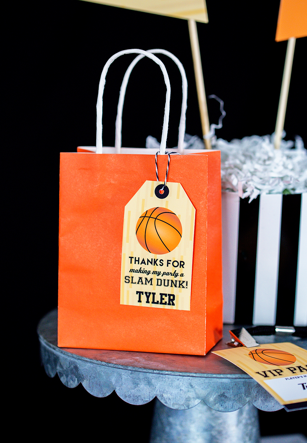 Basketball Party Favor Tags Printable Studio