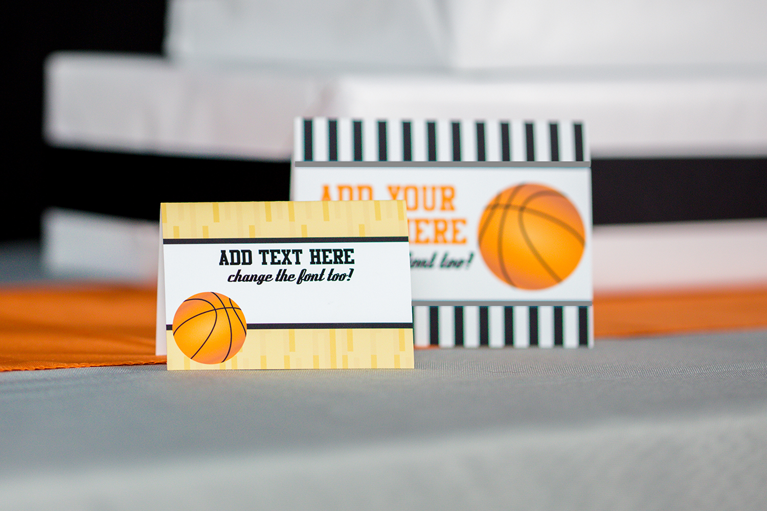 Basketball Party Food Labels / Buffet Table Signs ...
