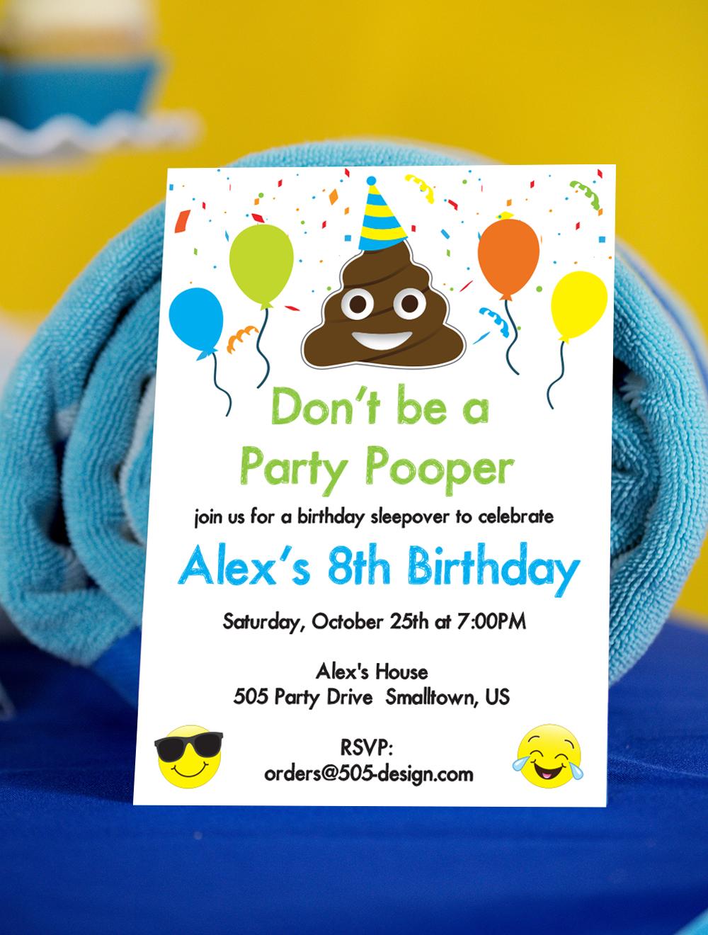 picture relating to Emoji Invitations Printable identify Emoji Occasion Pooper Invitation - Poop Emoji Invitation