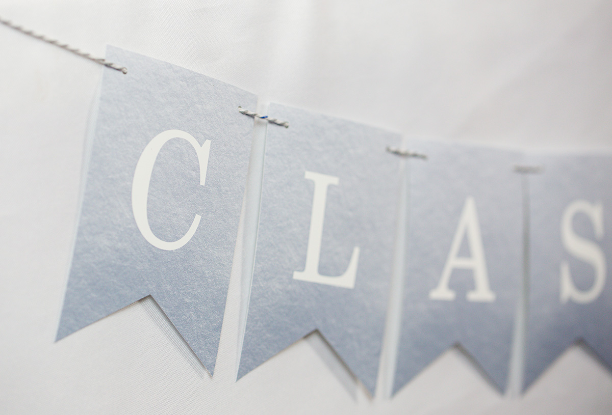 Printable Graduation Party Banner in Silver